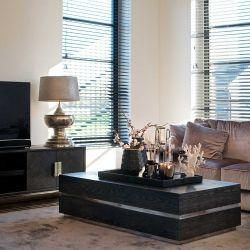 Wohnzimmer Bony schwarz/silber