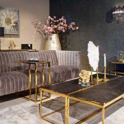 Wohnzimmer Bony schwarz/gold