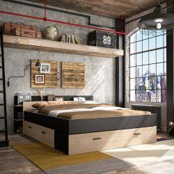 Doppelbetten met Stauraum