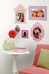 RoomMates Wandsticker - Bilderrahmen rosa und lila