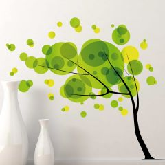 Wandsticker Baum im Wind XXL