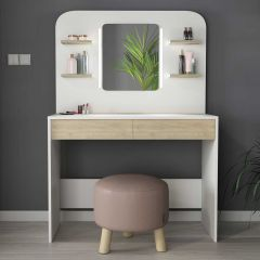 1740 Vanity Table Secret Oak Natural/White