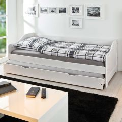 Kabinenbett Sandra 90x190cm - weiße Wäsche