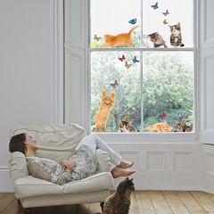 Fensteraufkleber Katzen