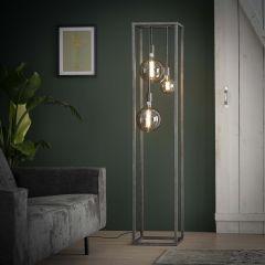 Stehleuchte Pilar XL Rahmen Vierkantrohr - Alt Silber Finish