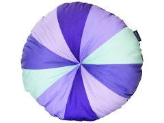 Rundes dekoratives Kissen - violett