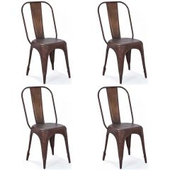 Set mit 4 Stühlen Aix - rostfrei