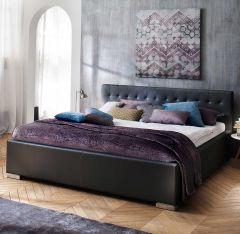 Gedempt bed Sandra Comfort - 200x200 cm - Zwart