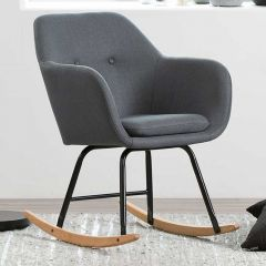 Emilia rocking chair - dark grey, oak;black