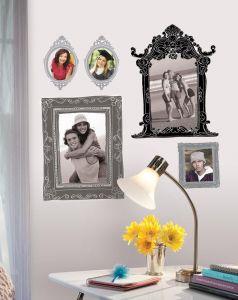 RoomMates Wandsticker - Bilderrahmen schwarz und grau