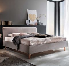 Gedempt bed Paula - 180x200 cm - taupe