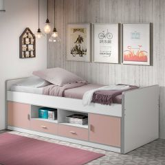 Kojenbett Bonny - weiß/rosa