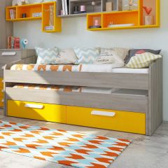 BO12Trundle bed 2 drawers 200cm Sunflower color
