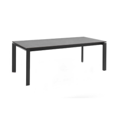 Bettini dining table 220/280 x 100 alu charc glasC