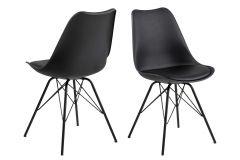 Eris dining chair - black, black - set of 2