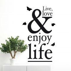 Wandaufkleber Enjoy Life XXL