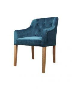 Sessel Jersey - Samt meeresblau