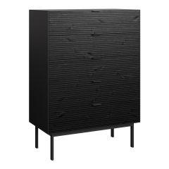 Dresser SOMA 017 - Dresser with 5 drawers - BLACK/BLACK