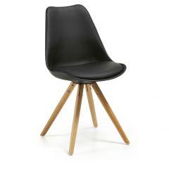 Stuhl Ralf Holz/Kunststoff - schwarz