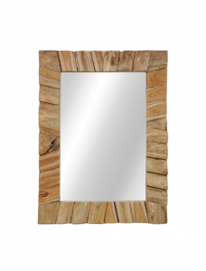 Wandspiegel - 60x80 cm - natürlich - Teakholz