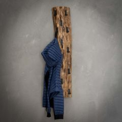 Garderobe Baumstamm 14 Haken - Massiv acacia naturel