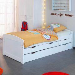 Kabinenbett Thomas 190cm - weiße Wäsche
