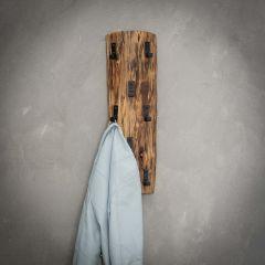 Garderobe Baumstamm 8 Haken - Massiv acacia naturel