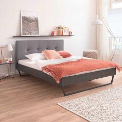 Doppelbett Bosko 160x200 mit Kufenfüßen - grau