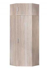 Eckschrank mit Aufsatz 218 cm hoch - Sonoma Eiche Dekor