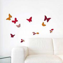Wandsticker 3D Schmetterlinge & Blätter - Schaumstoff