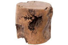 Hockerblock - ø30 cm - natürlich - Teakholz