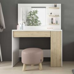 1730 Vanity Table Glamour Oak Natural/White