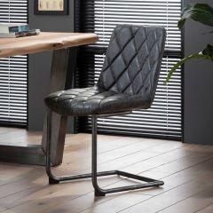 Stuhl Raster Schwenkrahmen - Set von 2 - Wax PU Schwarz