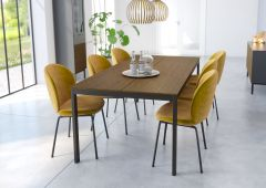 Dining table SOMA 401 - Dining table - BLACK/ESPRESSO