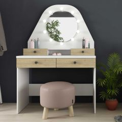 1735 Vanity Table Star Oak Natural/White