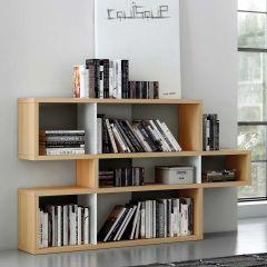 Bücherschrank Lissabon 1 - Eiche / Weiß