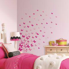 Pink Flutter Butterflies