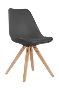 Set mit 2 Stühlen Lady - schwarz