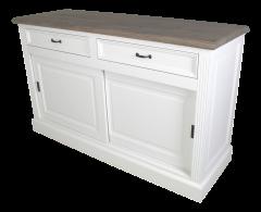 Sideboard Provence - 150 cm - weiß / graue Eiche