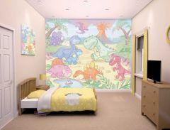 Wandbild Baby Dinosaurierland