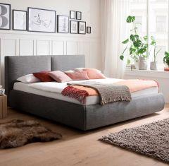 Gestoffeerd bed Atesio incl. bedlade - 180x200 cm - antraciet