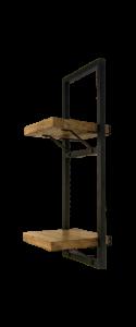 Wandregal Ebenen - 25x70 cm - Mangoholz / Eisen