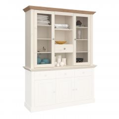 Dresser MONACO 052 - Dresser top with 2 doors and 1 drawer - WHITE WASH/PROVONCE