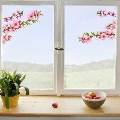Fensteraufkleber Pfirsichzweig