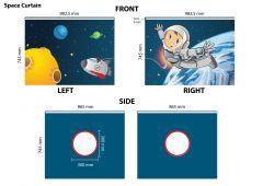 Bettzelt Astronaut