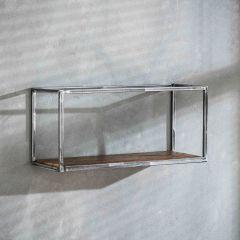 Wandregal grained 65cm - Robustes Hartholz