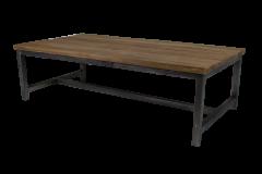 Couchtisch - 120x60 cm - natur / schwarz - Teak / Eisen