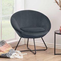 Center resting chair - matt black, dark grey