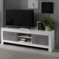 Modena Weiss/beton TV möbel 160cm