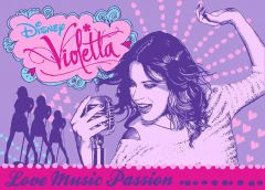 Teppich Violetta - Love Music